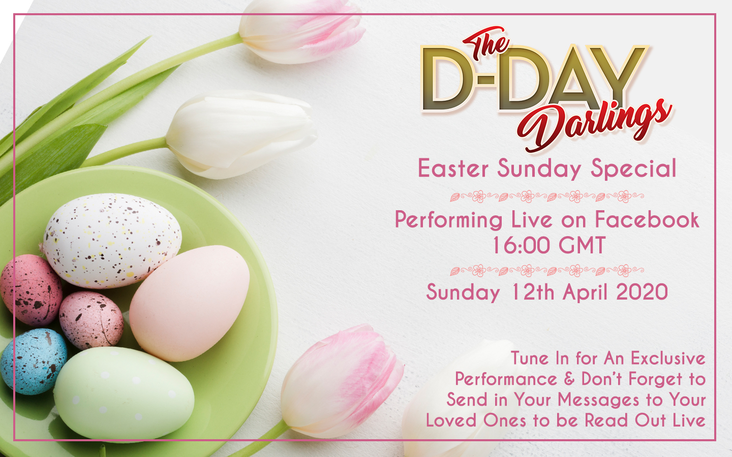 We'll Meet Again… on Easter Sunday with another live broadcast